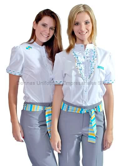 fa33d6027f7 Camisas para uniformes femeninos - Donnas Uniformes Empresariales